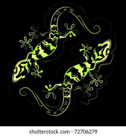 lizards vector