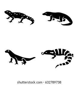 Lizards vector icons