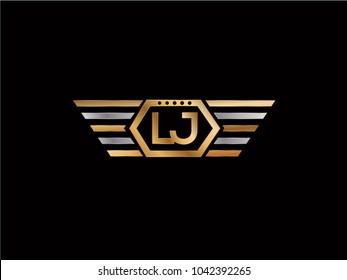 LJ Hexagon Shape Letter design