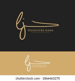 LJ Initial letter handwriting and signature logo.