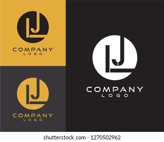 lj/jl initial logo design letter with circle shape