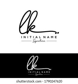 LK Initial letter handwriting and signature logo.