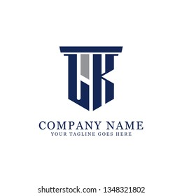 LK initial letter Vector, for accounting and finance company logo design