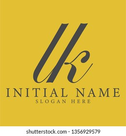 lk initial logo design with a creative and minimalist concept. Vector EPS 10.