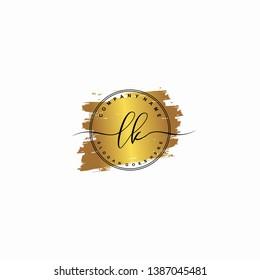 LK Initial luxury handwriting logo vector