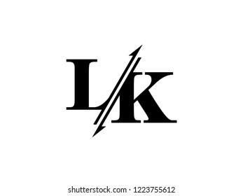 LK initials logo sliced