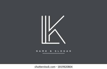 LK, KL Abstract Letters Logo Monogram