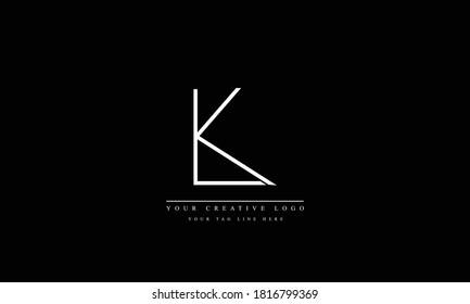 LK KL abstract vector logo monogram template