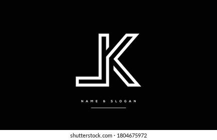 LK ,KL ,L K Abstract Letters Logo Monogram