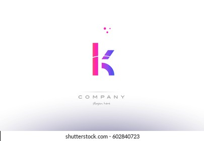 lk l k  pink purple modern creative gradient alphabet company logo design vector icon template