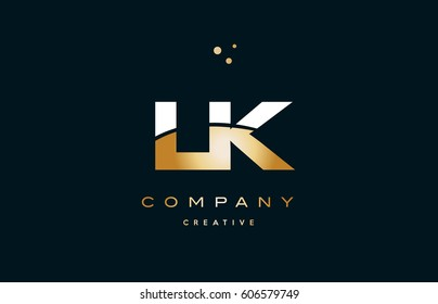 lk l k  white yellow gold golden metal metallic luxury alphabet company letter logo design vector icon template