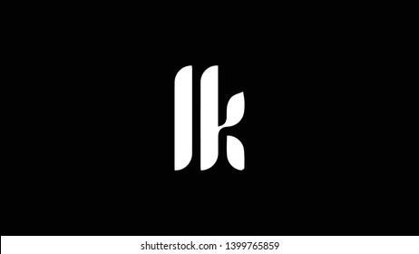LK logo design template vector illustration minimal design