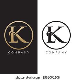 lk logo initial luxury premium icon design