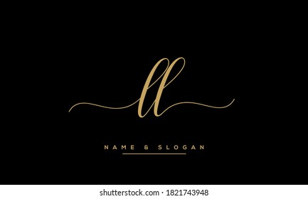 LL, L Alphabet Letters Logo monogram Template