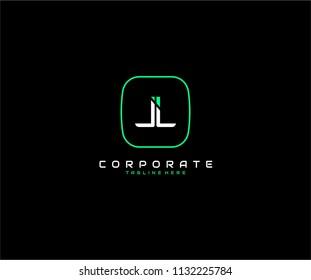 LL Letter Futuristic Modern Logo Design Template