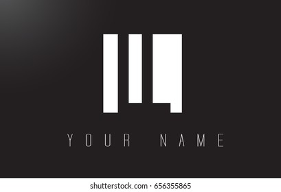 LL Letter Logo With Black and White Letters Negative Space Design.