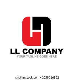 LL letter logo design