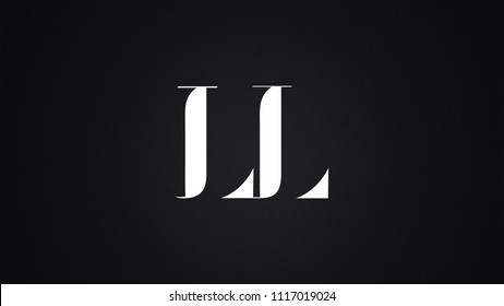 LL Letter Logo Design Template Vector