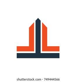 LL letter logo design template icon