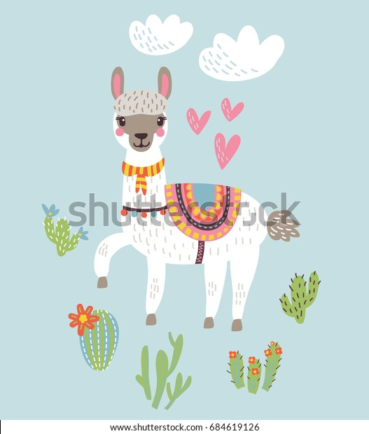 Llama Alpaca.Vector illustration