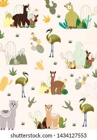 Llama and Cactus Clipart Bundle,No Drama Llamas Graphics Set.