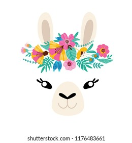 "Llama colorful lettering. ""No Prob Llama""cute type for nursery design, poster, birthday greeting card, etc"