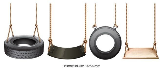 lllustration of the different swings on a white background