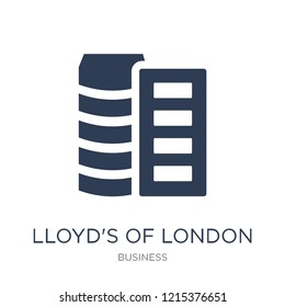 Lloyd's of London icon. Trendy flat vector Lloyd's of London icon on white background from Business collection, vector illustration can be use for web and mobile, eps10