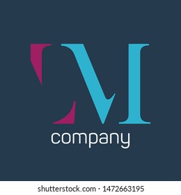 LM company logo. Monogram. Letters L and M.