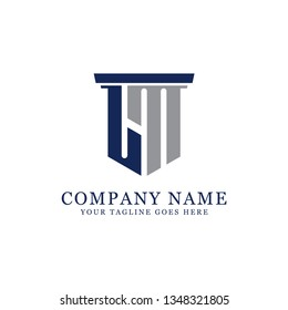 LM initial letter Vector, for accounting and finance company logo design