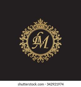 LM initial luxury ornament monogram logo