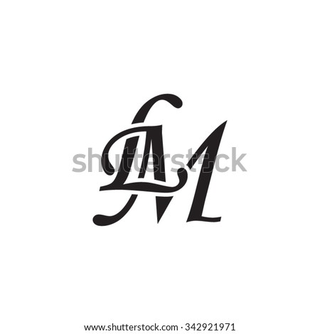 lm initial monogram logo stock vector royalty free 342921971