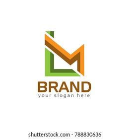 LM, Letter L and M, Logo Design Element