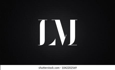 LM Letter Logo Design Template Vector