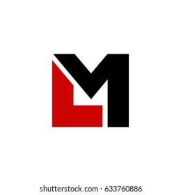 lm letter vector logo