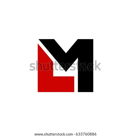 lm letter vector logo stock vector royalty free 633760886