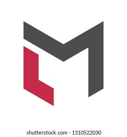 LM or ML Letter Combination Logo Concept