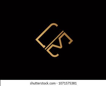 LM square shape Letter logo Design