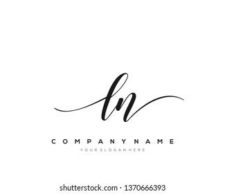 LN handwriting initial  logo vector