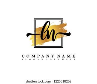 LN Initial handwriting logo concept