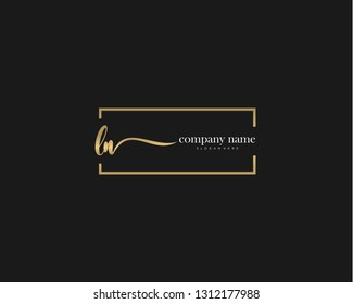 LN Initial handwriting logo vector. Hand lettering for designs.