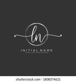 LN Initial handwriting logo vector