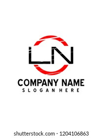LN Initial logo with circle template vector
