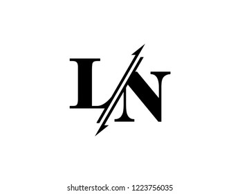 LN initials logo sliced