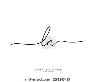LN L N Initial handwriting logo template