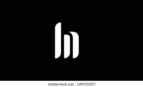 LN logo design template vector illustration minimal design