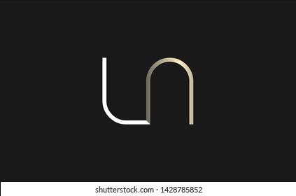 LN  logo design. Unique symbol
