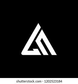 ln logo initial triangle
