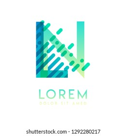 LN logo with the theme of galaxy speed and style that is suitable for creative and business industries. NL Letter Logo design for all webpage media and mobile, simple, modern and colorful
