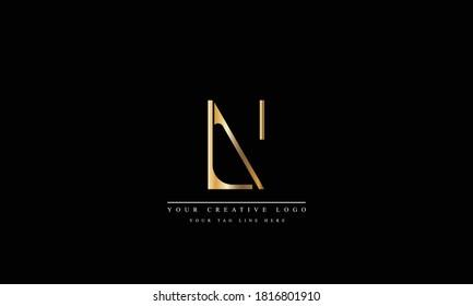 LN NL abstract vector logo monogram template